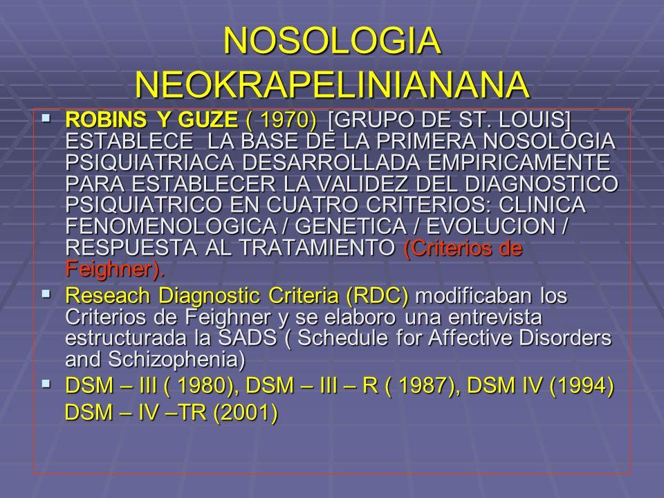 NOSOLOGIA NEOKRAPELINIANANA