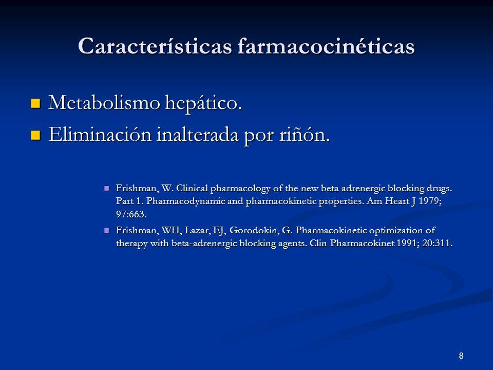Características farmacocinéticas