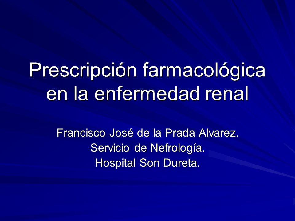 Prescripción farmacológica en la enfermedad renal