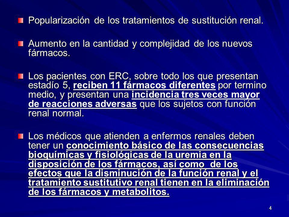 Popularización de los tratamientos de sustitución renal.