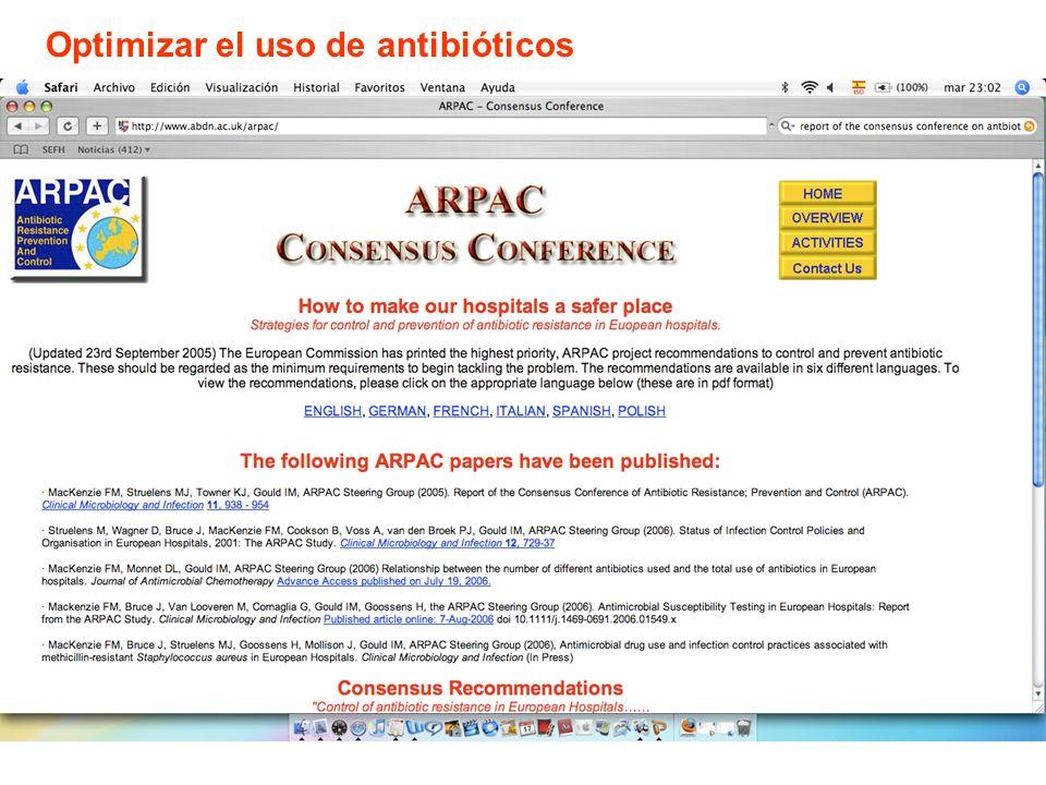 Optimizar el uso de antibióticos
