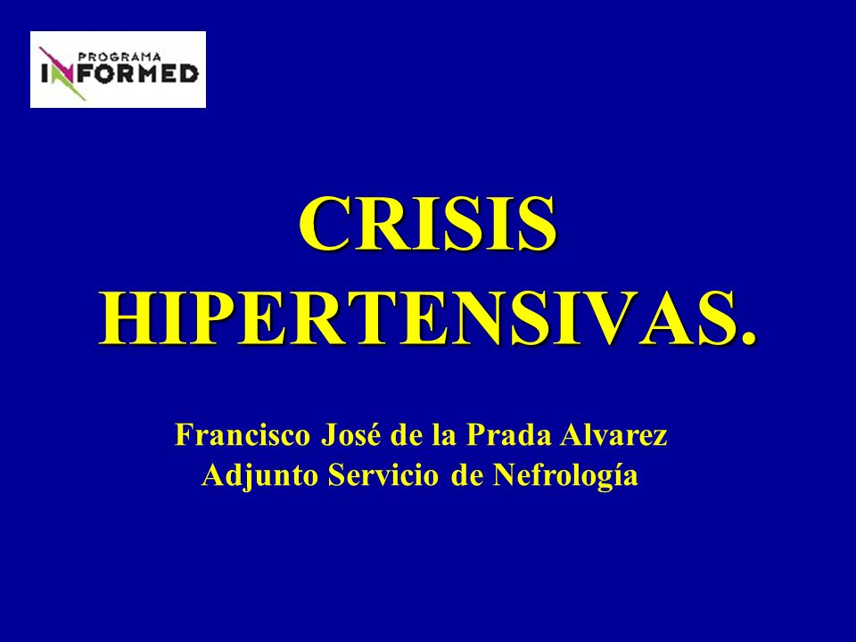 Francisco José de la Prada Alvarez Adjunto Servicio de Nefrología