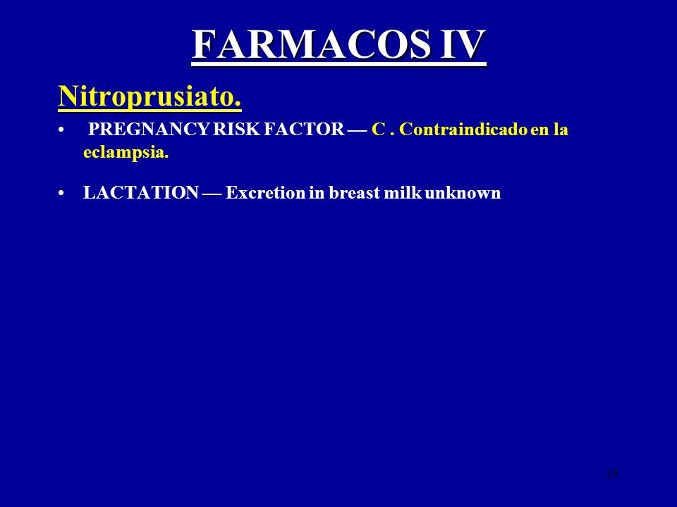 FARMACOS IV Nitroprusiato.
