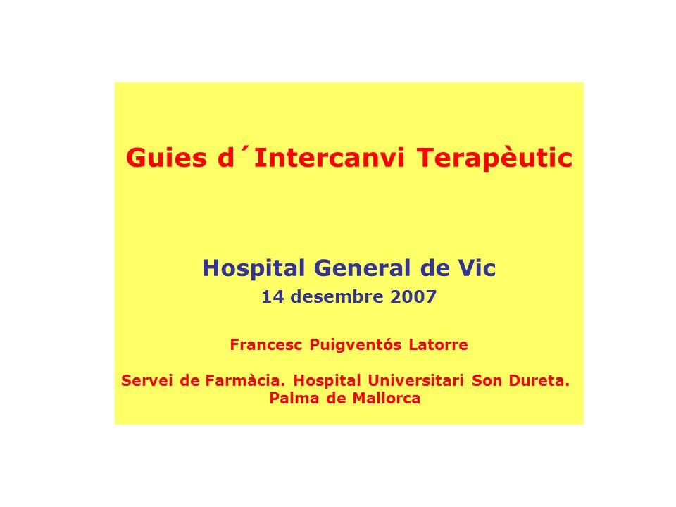 Guies d´Intercanvi Terapèutic