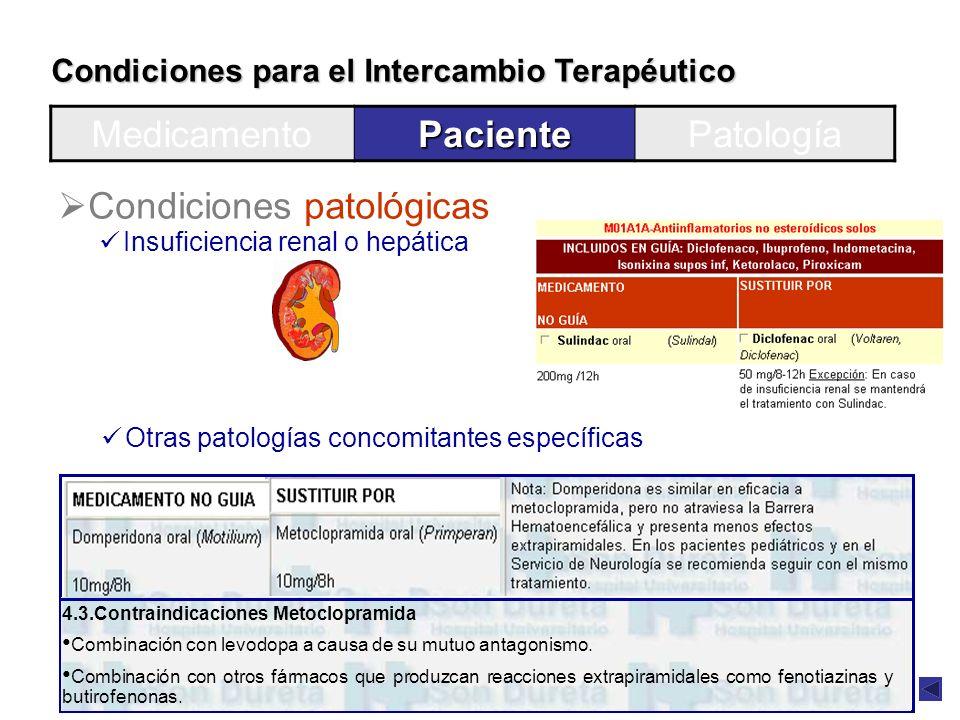 Condiciones patológicas
