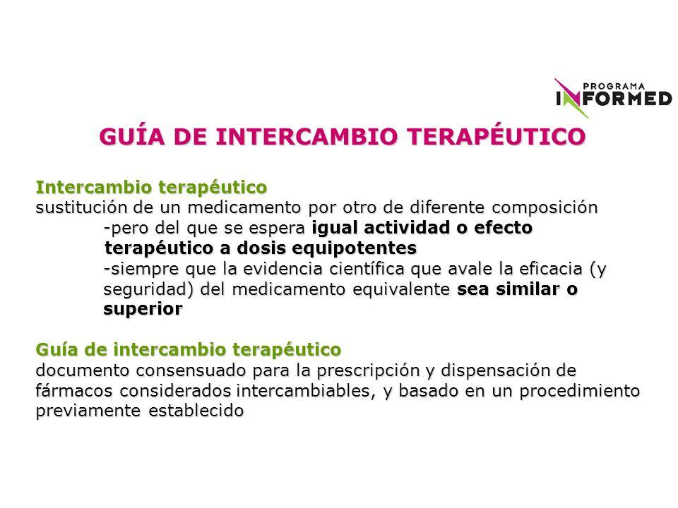 GUÍA DE INTERCAMBIO TERAPÉUTICO