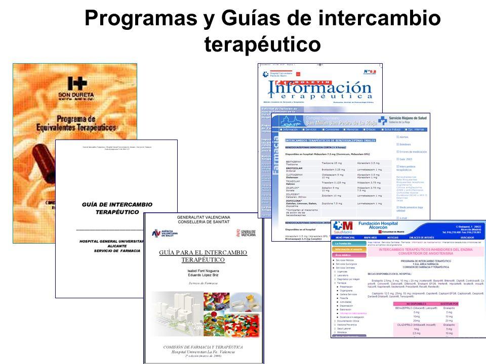 Programas y Guías de intercambio terapéutico