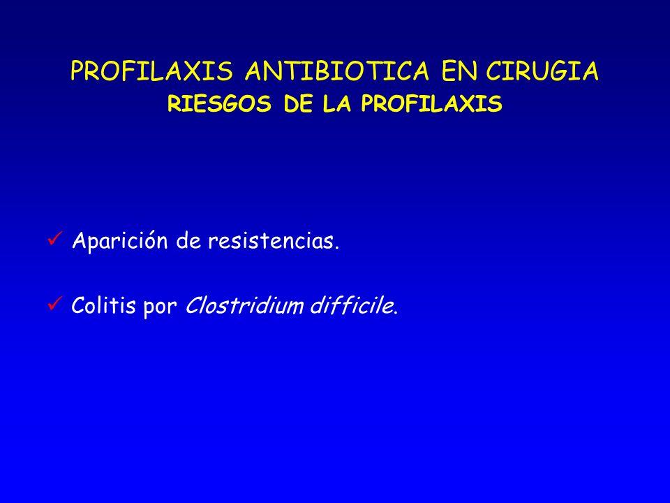 PROFILAXIS ANTIBIOTICA EN CIRUGIA RIESGOS DE LA PROFILAXIS