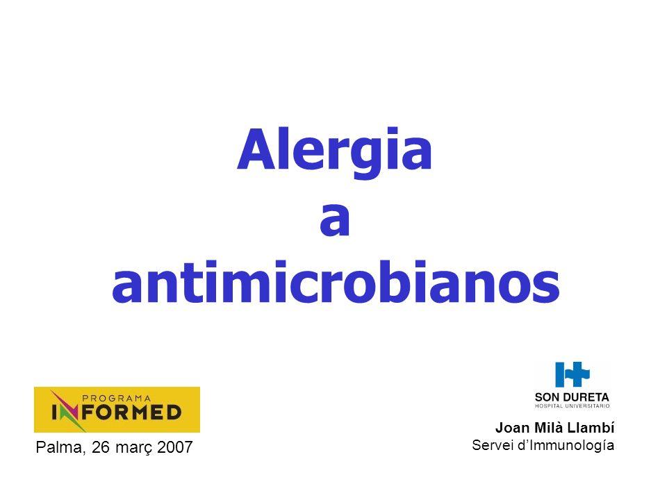 Alergia a antimicrobianos