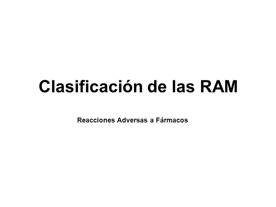 Clasificación de las RAM