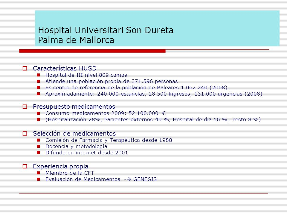 Hospital Universitari Son Dureta Palma de Mallorca
