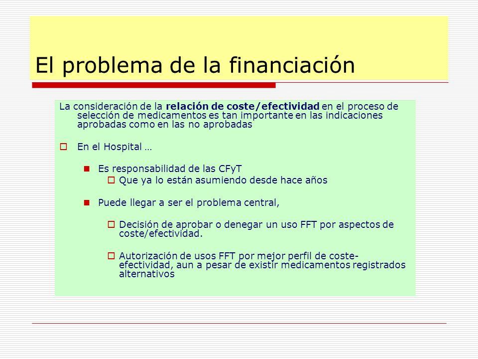 El problema de la financiación