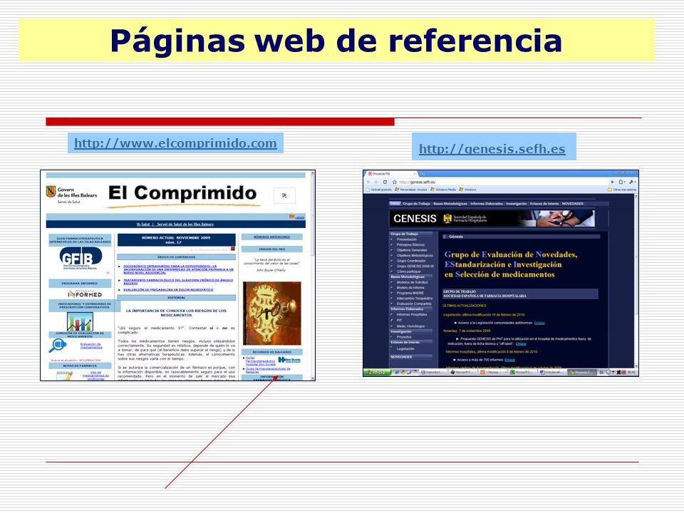 Páginas web de referencia