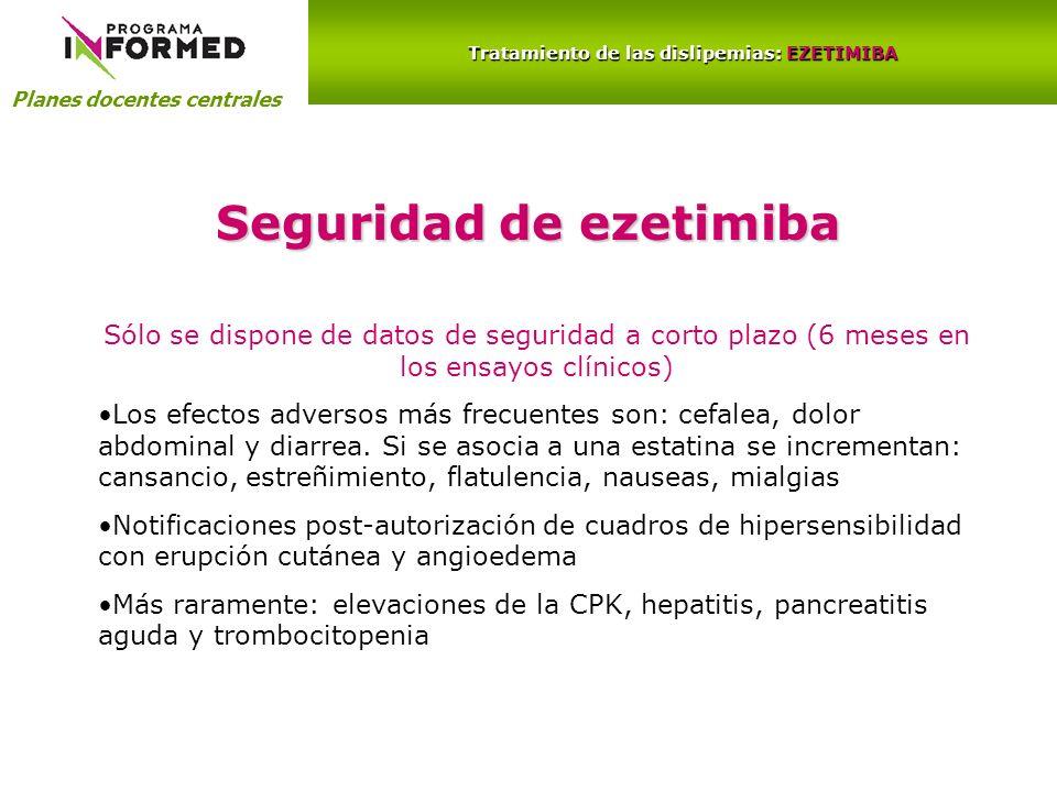 Tratamiento de las dislipemias: EZETIMIBA Seguridad de ezetimiba