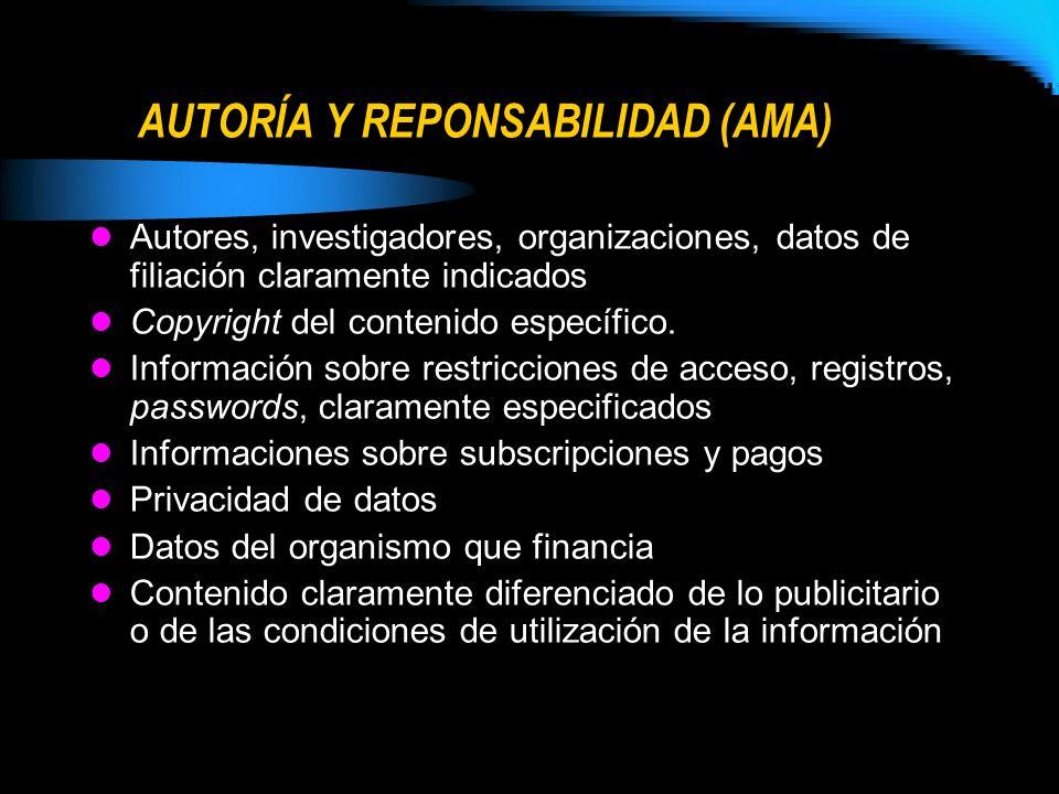 AUTORÍA Y REPONSABILIDAD (AMA)
