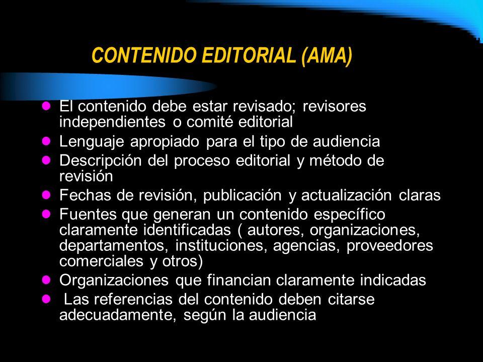 CONTENIDO EDITORIAL (AMA)