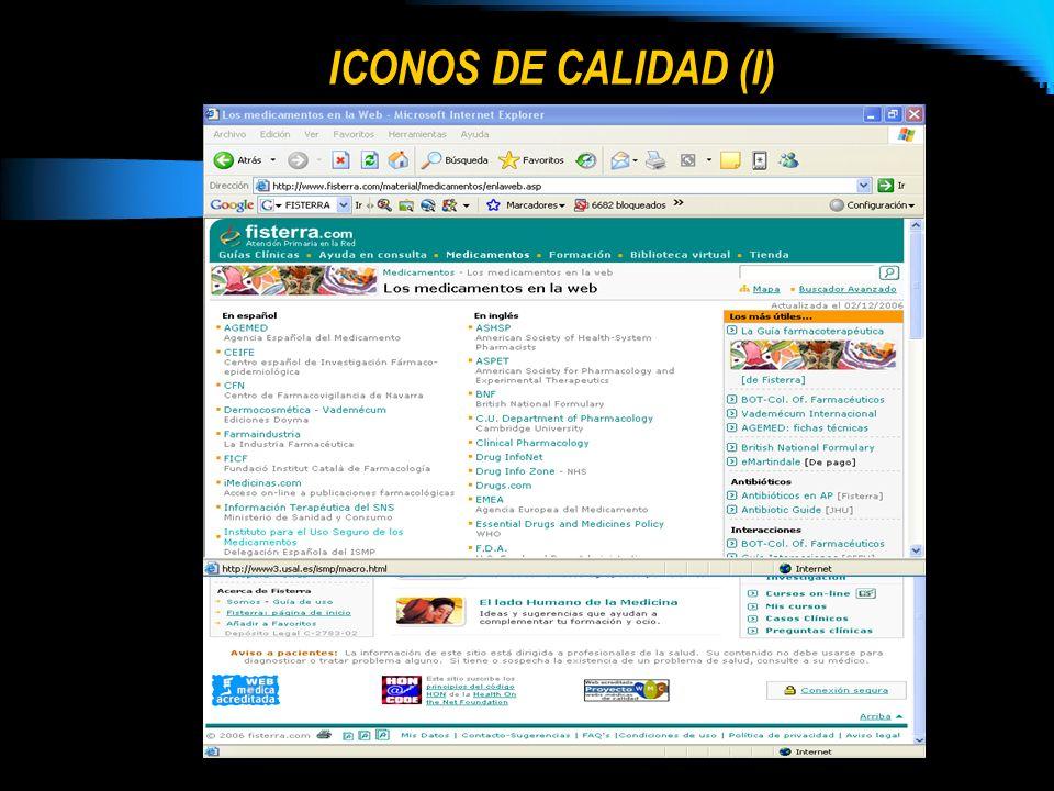 ICONOS DE CALIDAD (I)