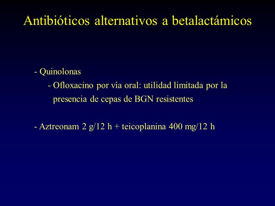Antibióticos alternativos a betalactámicos