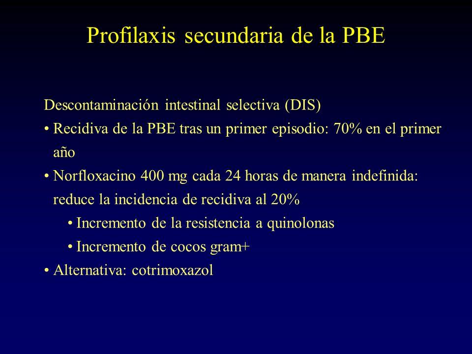 Profilaxis secundaria de la PBE