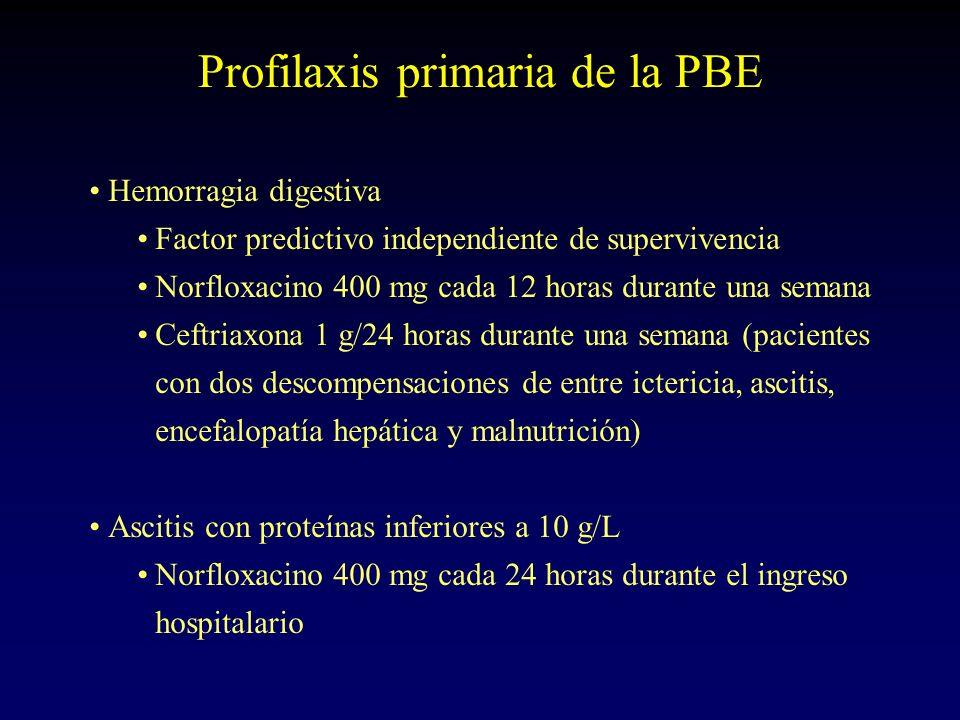 Profilaxis primaria de la PBE