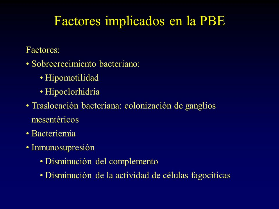 Factores implicados en la PBE