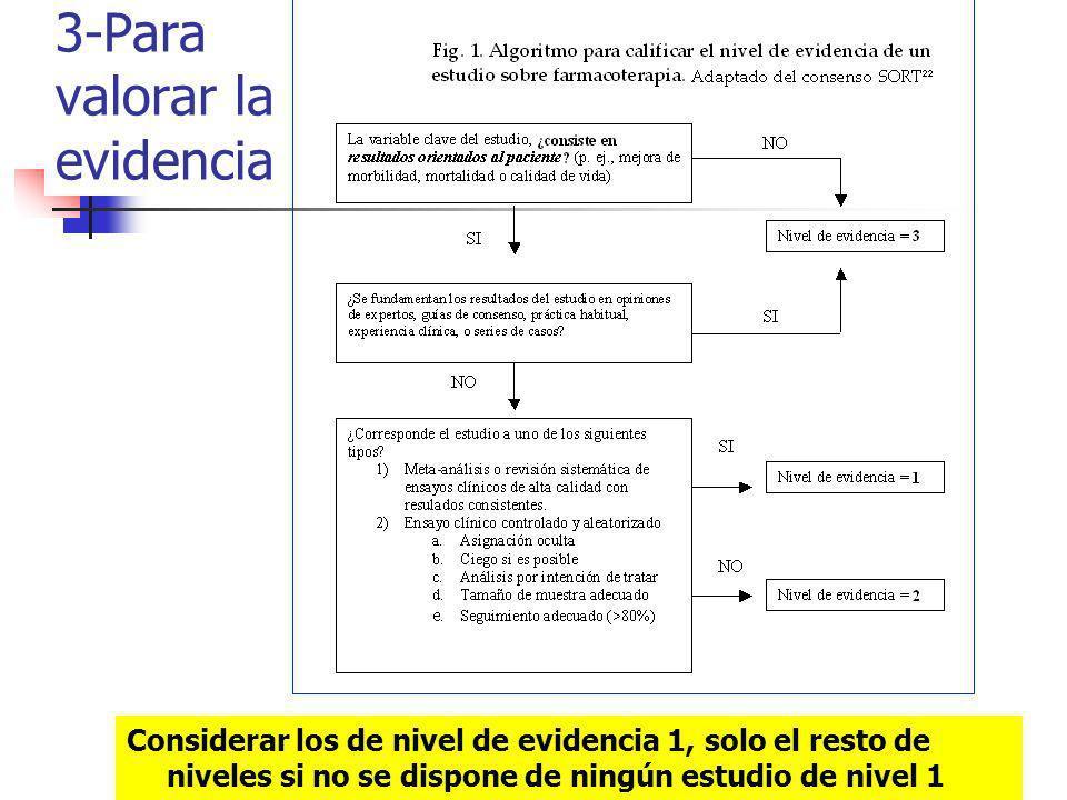 3-Para valorar la evidencia
