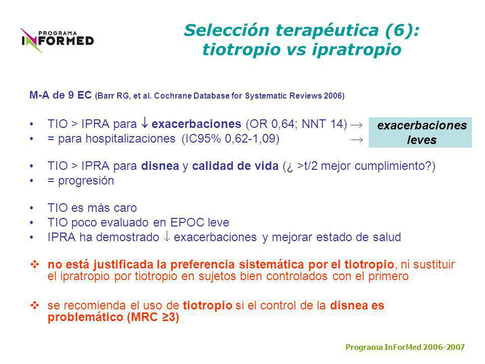 Selección terapéutica (6): tiotropio vs ipratropio