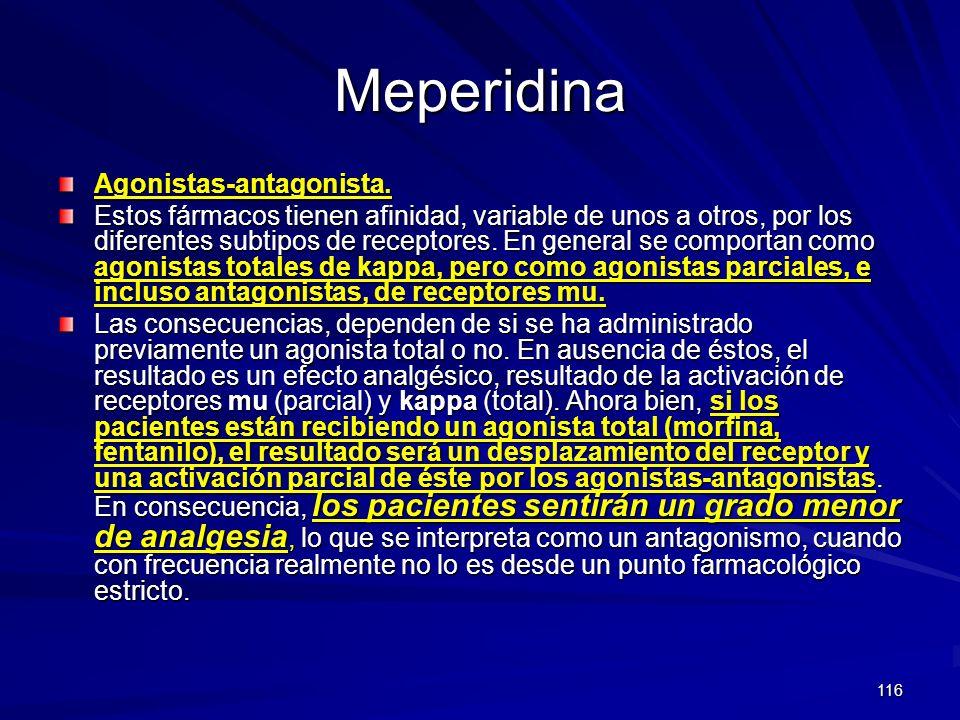 Meperidina Agonistas-antagonista.