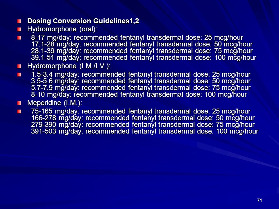 Dosing Conversion Guidelines1,2