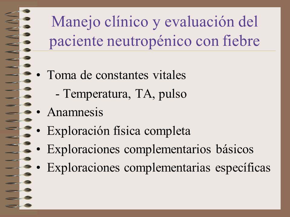 Manejo clínico y evaluación del paciente neutropénico con fiebre