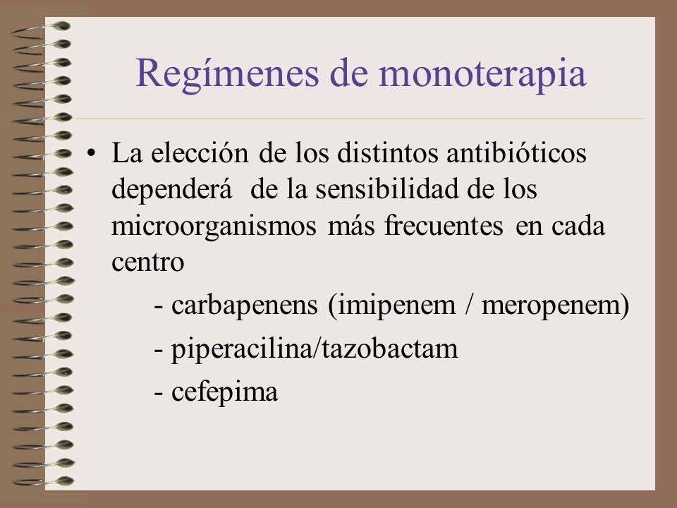 Regímenes de monoterapia