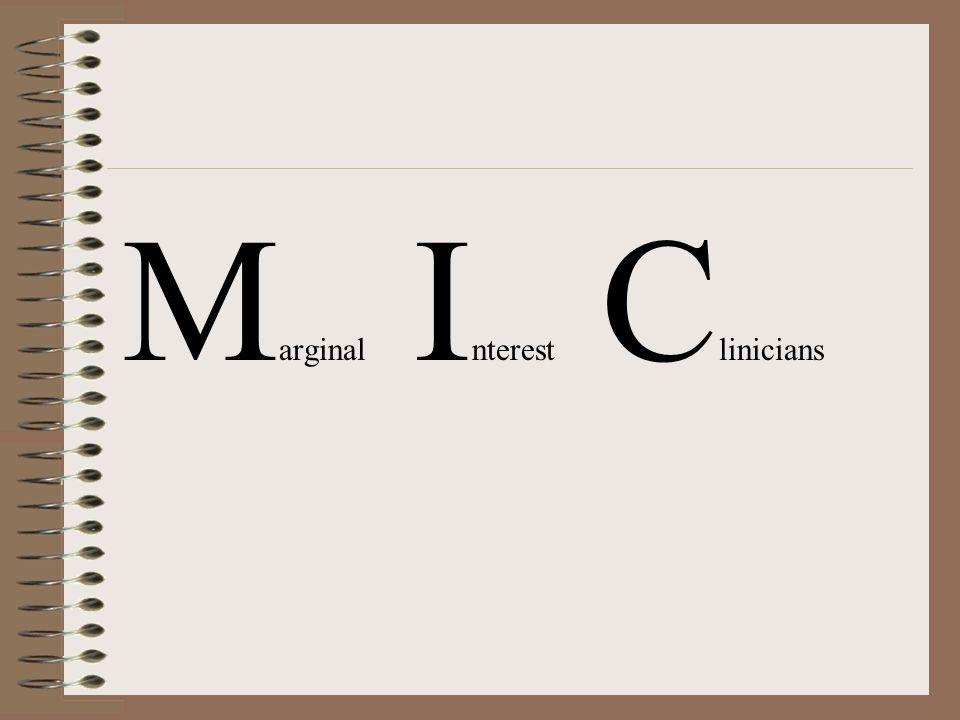 Marginal Interest Clinicians