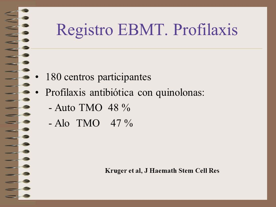 Registro EBMT. Profilaxis