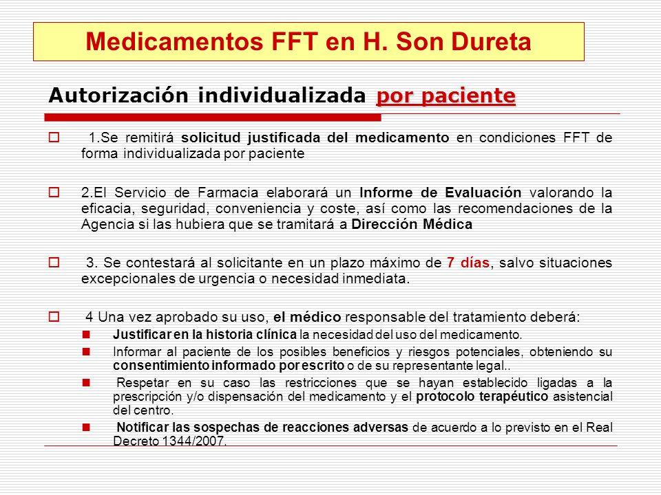 Autorización individualizada por paciente