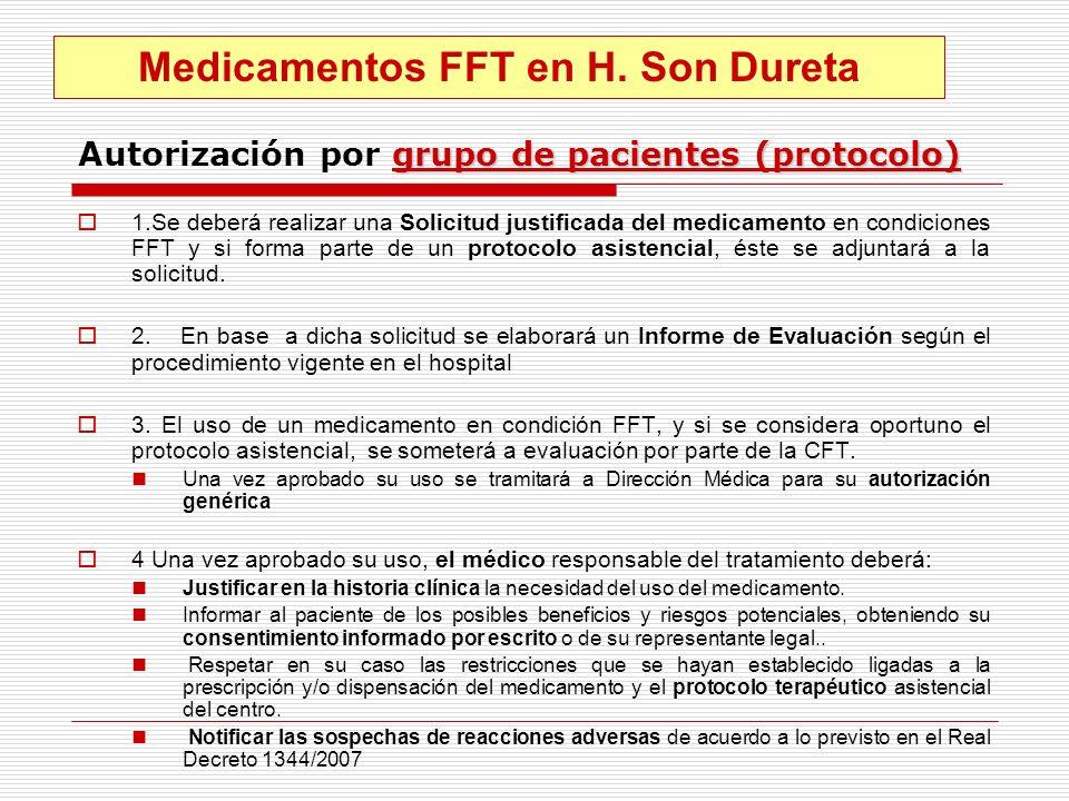 Autorización por grupo de pacientes (protocolo)