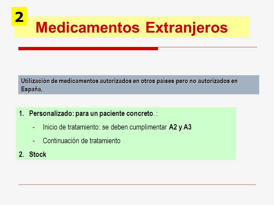 Medicamentos Extranjeros