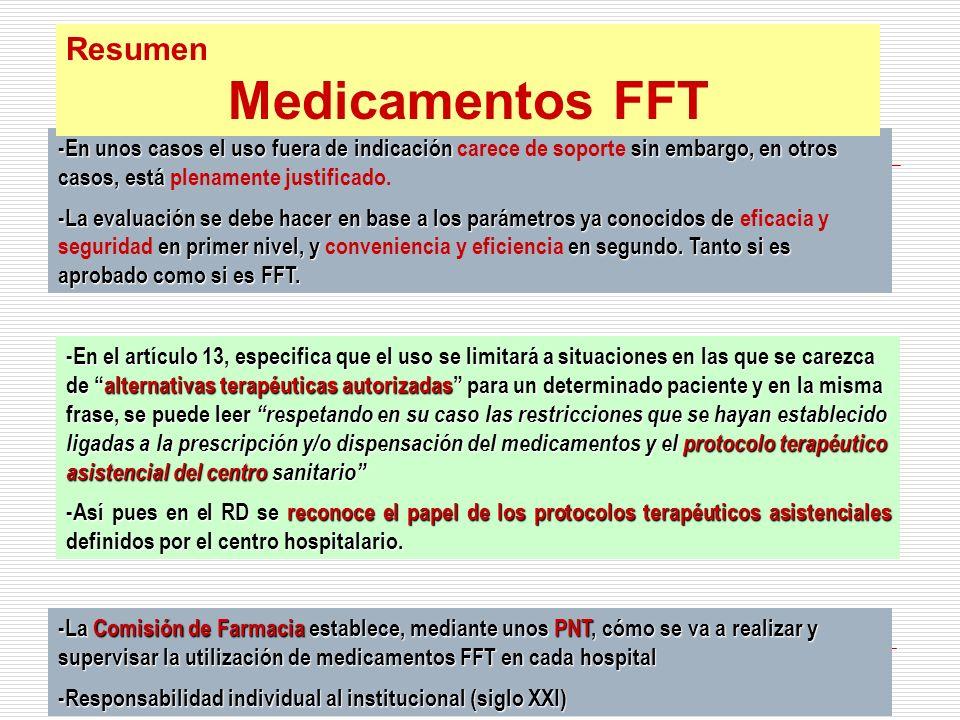Medicamentos FFT Resumen