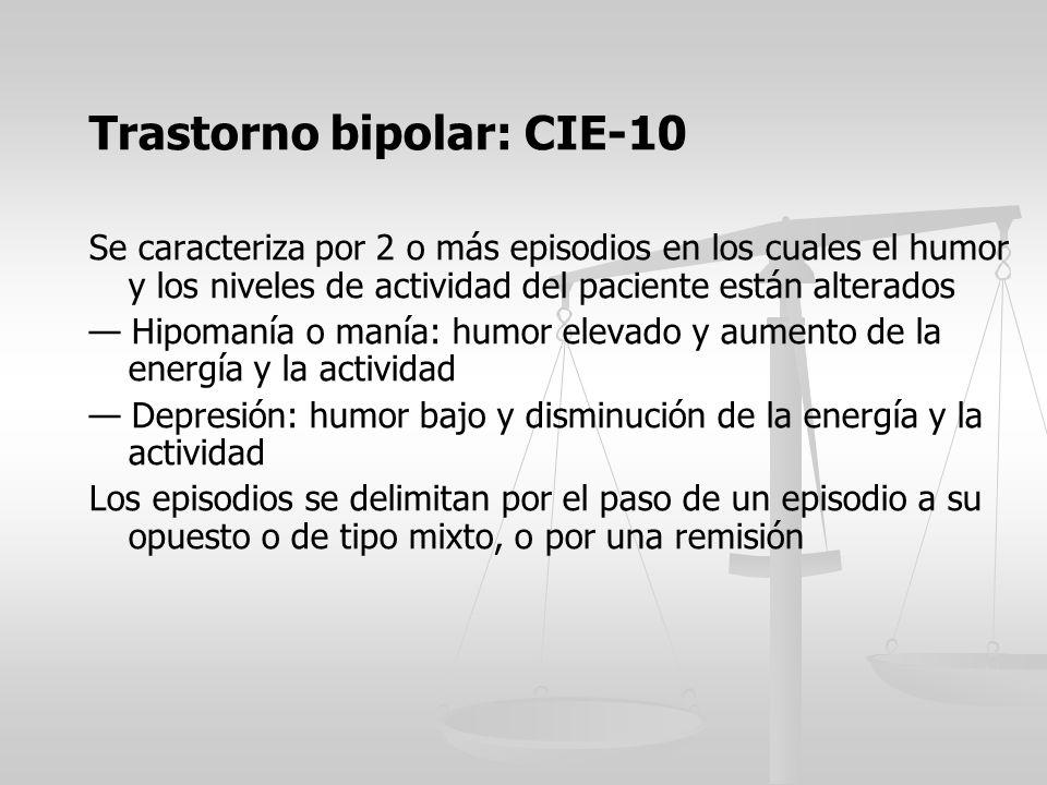 Trastorno bipolar: CIE-10