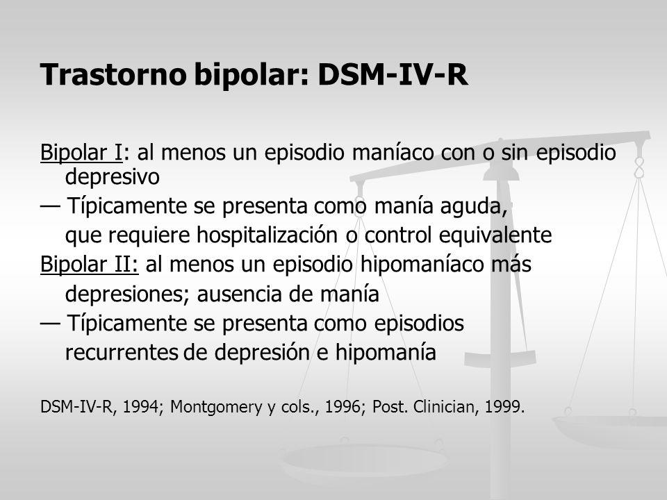 Trastorno bipolar: DSM-IV-R
