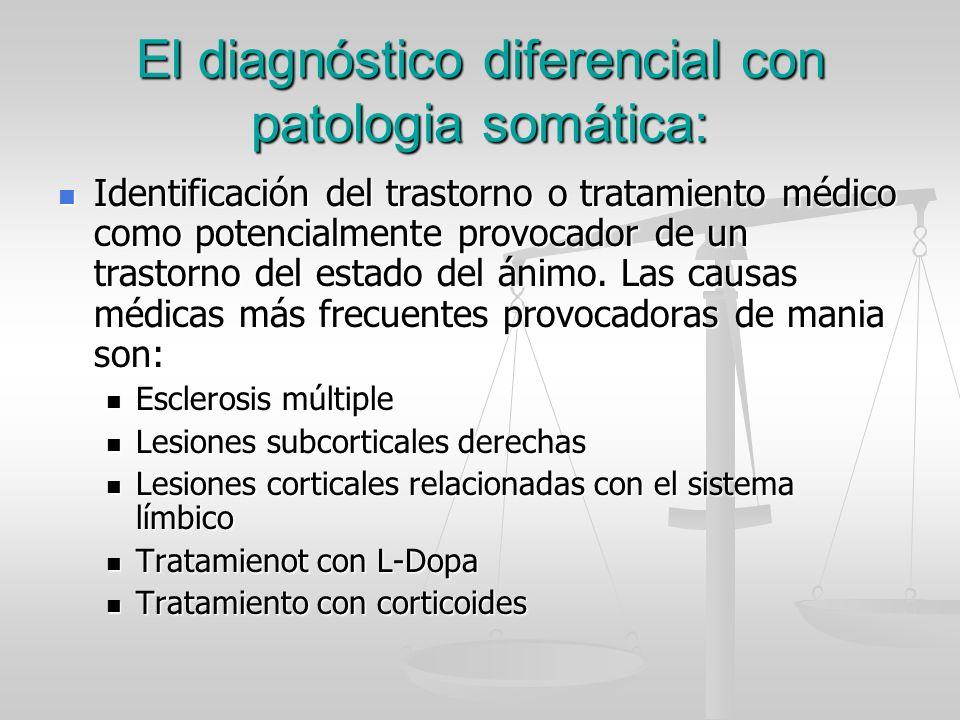 El diagnóstico diferencial con patologia somática: