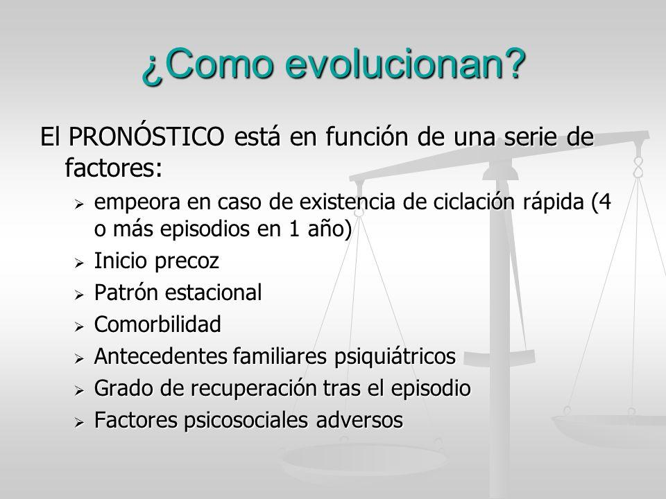 ¿Como evolucionan El PRONÓSTICO está en función de una serie de factores: