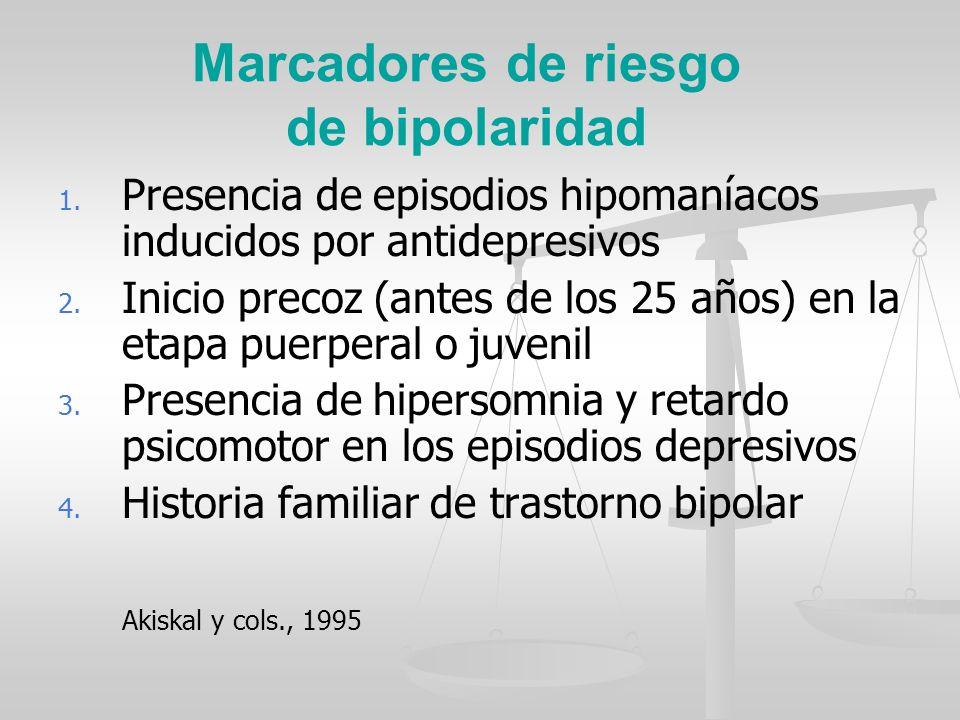 Marcadores de riesgo de bipolaridad