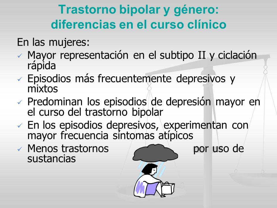 Trastorno bipolar y género: diferencias en el curso clínico