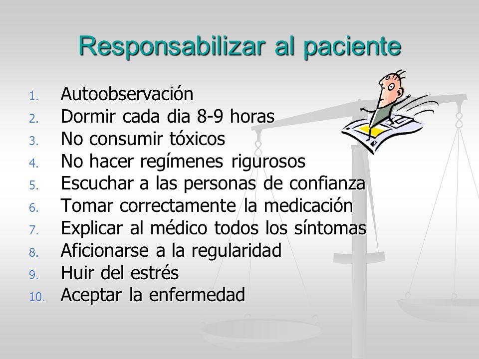 Responsabilizar al paciente