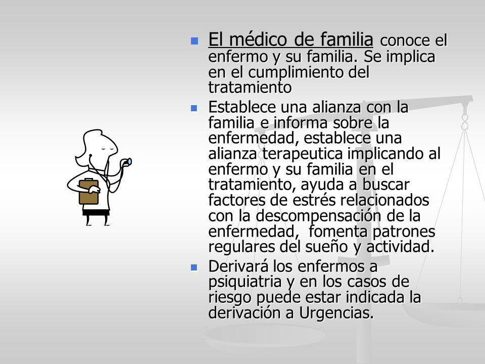 El médico de familia conoce el enfermo y su familia