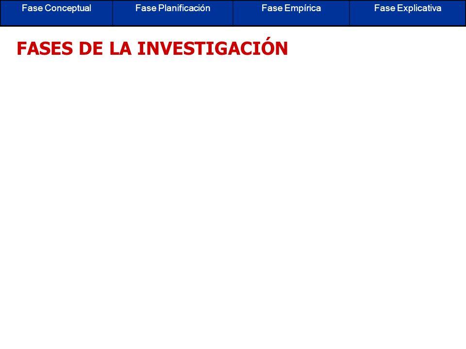 FASES DE LA INVESTIGACIÓN