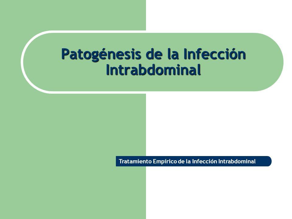 Patogénesis de la Infección Intrabdominal