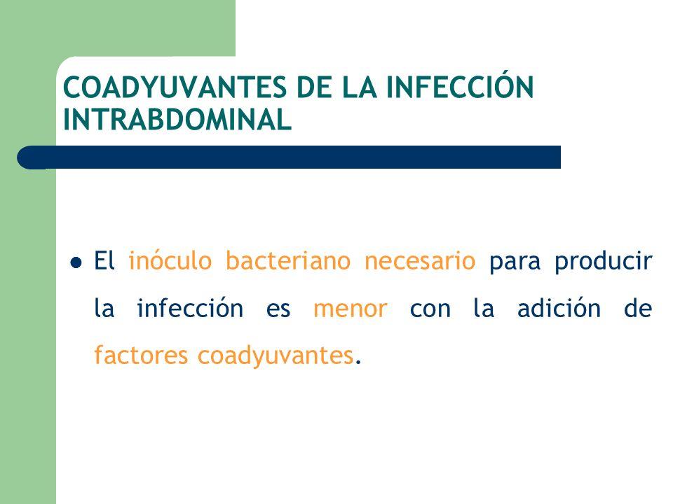 COADYUVANTES DE LA INFECCIÓN INTRABDOMINAL