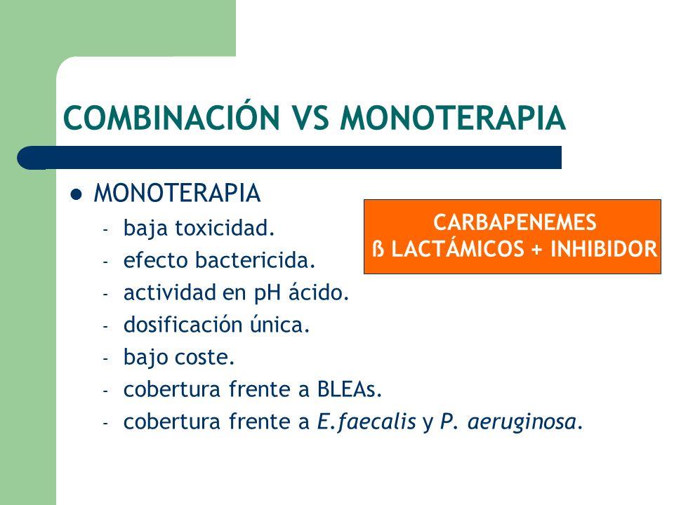 COMBINACIÓN VS MONOTERAPIA