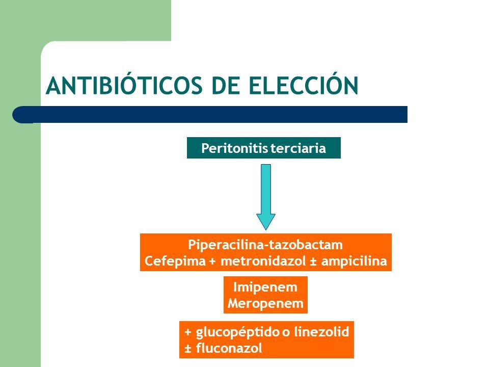 ANTIBIÓTICOS DE ELECCIÓN
